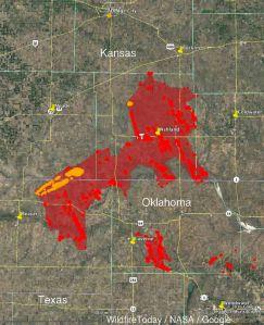Kansas Wildfire Map